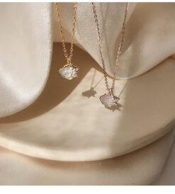 [925純銀]小眾設計貝殼海星項鏈