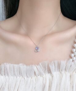 [925純銀]小眾設計月光石項鏈