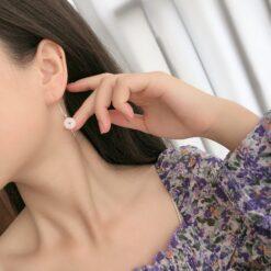 [925純銀]氣質流蘇和田玉耳環