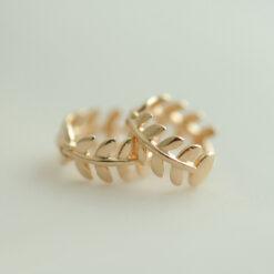 [925純銀]簡約百搭森系葉子耳環