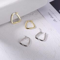 [925純銀]小眾設計幾何耳環