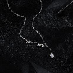 [銅]小眾設計花朵蝴蝶項鏈