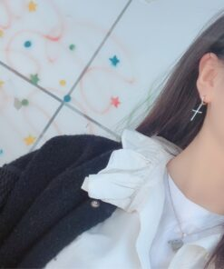 [925純銀]個性十字架耳環