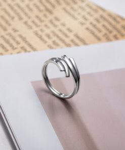 [925純銀]簡約多層戒指指環
