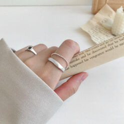 [925純銀]冷淡風圓珠鏈戒指