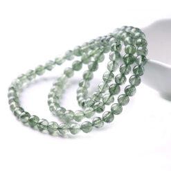 [綠髮晶+綠鈦晶]髮絲明顯三圈手鍊