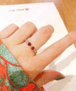 [925純銀]復古紅瑪瑙戒指