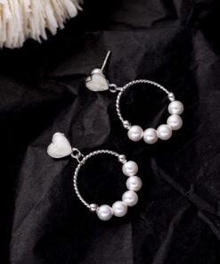 [925純銀]小清新心形耳環