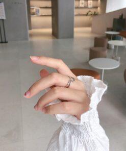 [925純銀]復古雙層鏈條戒指