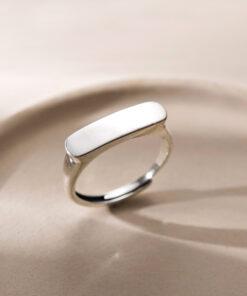 [925純銀]簡約百搭光面戒指