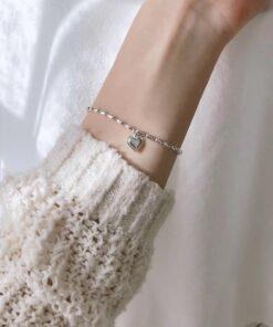 [925純銀]氣質愛心手鍊