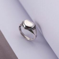 [925純銀]簡約開口食指愛心戒指