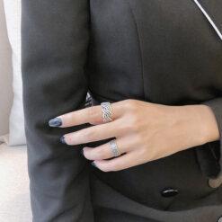 [925純銀]復古橄欖葉戒指