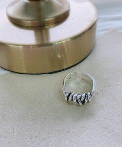 [925純銀]繩結螺旋戒指