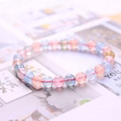[摩根石]糖果色冰透體手鍊
