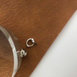 [925純銀]簡約米老鼠耳扣