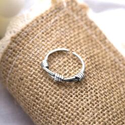 [925純銀]打結開口復古做舊戒指