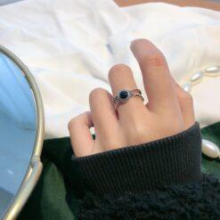 [925純銀]復古黑瑪瑙戒指