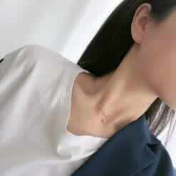 [925純銀]簡約壹字圓珠項鏈