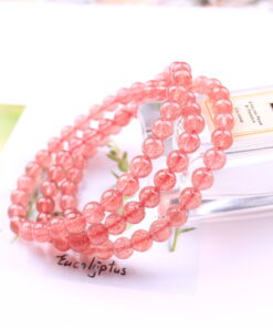 [草莓晶]冰種鴿血紅多圈手鍊