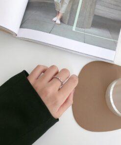 [925純銀]做舊環環相扣戒指