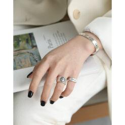 [925純銀]復古字母戒指