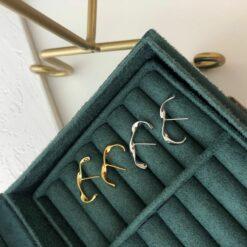 [925純銀]設計款扭曲耳環