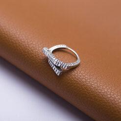 [925純銀]百變開口交叉紋路戒指