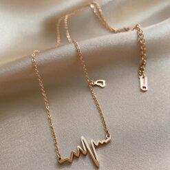 [合金]真金電鍍心電項鍊