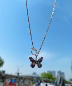 [925純銀]復古小眾蝴蝶項鏈