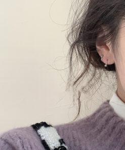 [925純銀]簡約小巧旋轉小球耳釘耳環