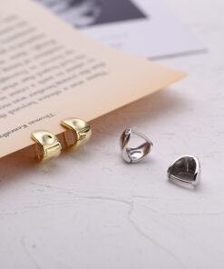 [925純銀]簡約金屬U型耳扣
