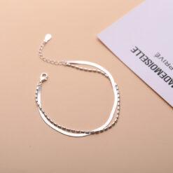 [925純銀]小眾雙層蛇骨鏈