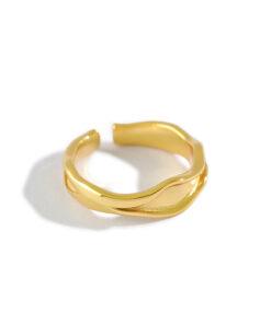 [925純銀]不規則凹凸面戒指