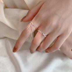 [銅]鏈條流蘇戒指