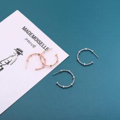 [925純銀]c型耳釘耳圈