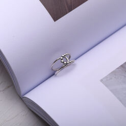 [925純銀]復古圓珠交叉戒指