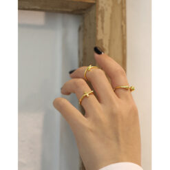 [925純銀]極簡十字架戒指