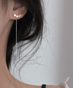 [925純銀]氣質星星耳環