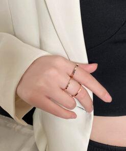 [鈦鋼]三合一戒指