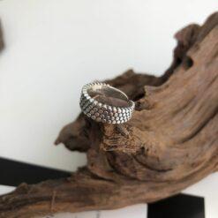 [925純銀]氣質百搭圓點戒指