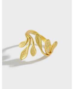 [925純銀]簡約橄欖樹葉戒指