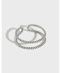 [925純銀]復古編繩麻花戒指