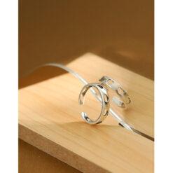 [925純銀]復古鏤空心形戒指