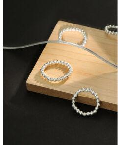 [990純銀]極簡轉運珠戒指