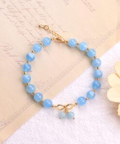[海藍寶]蝴蝶結手鍊