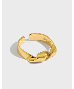 [925純銀]極簡扭紋戒指