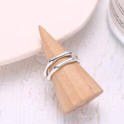 [925純銀]個性不規則雙層戒指