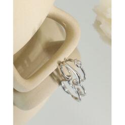 [925純銀]不規則線條戒指