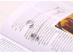 [925純銀]圓珠鍊條耳夾一體耳環